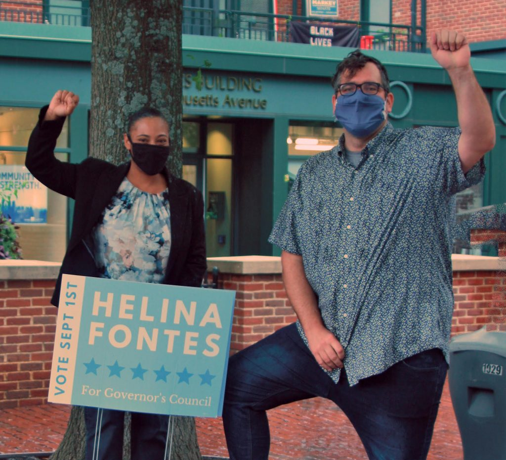 Photo of Helina Fontes and Rep. Mike Connolly